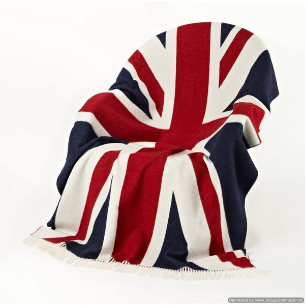 Bronte Moon - Union Jack Throw Red/White/Blue. Opens flyout.