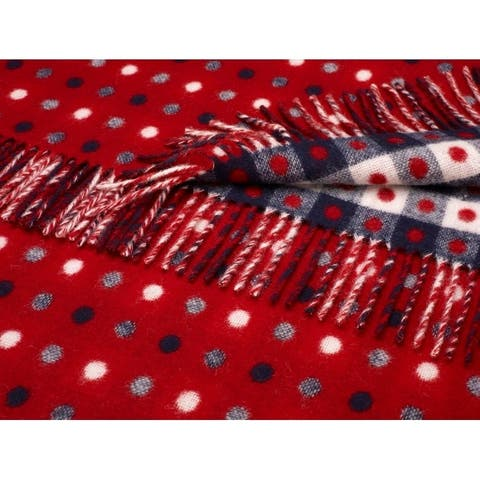 Bronte Moon - Spot Check Throw Red Multi