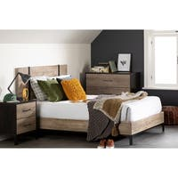 South Shore Valet Platform Bed with Headboard