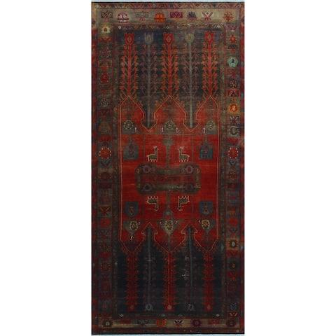 """Noori Rug Vintage Distressed Bryon Red/Black Runner - 4'10"""" x 10'8"""""""