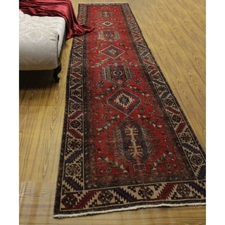 "Noori Rug Vintage Distressed Jerold Red/Beige Runner - 3'3"" x 13'7"""