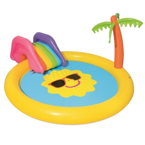 "H2OGO 7'9"" x 6'7"" x 41"" Sunnyland Splash Play Pool"