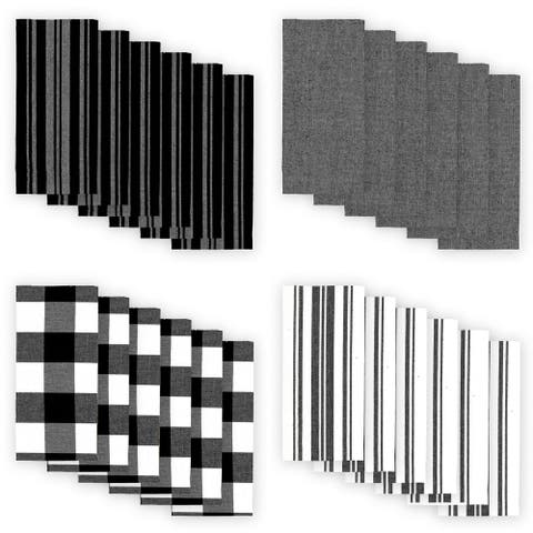 The Gray Barn Emily Gulch Stripe and Check Napkins (Set of 24)