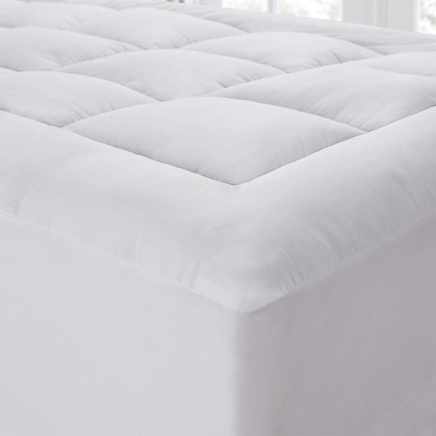 The Mega Thick Mattress Pad Topper Pillow Top On Sale Overstock 28435554