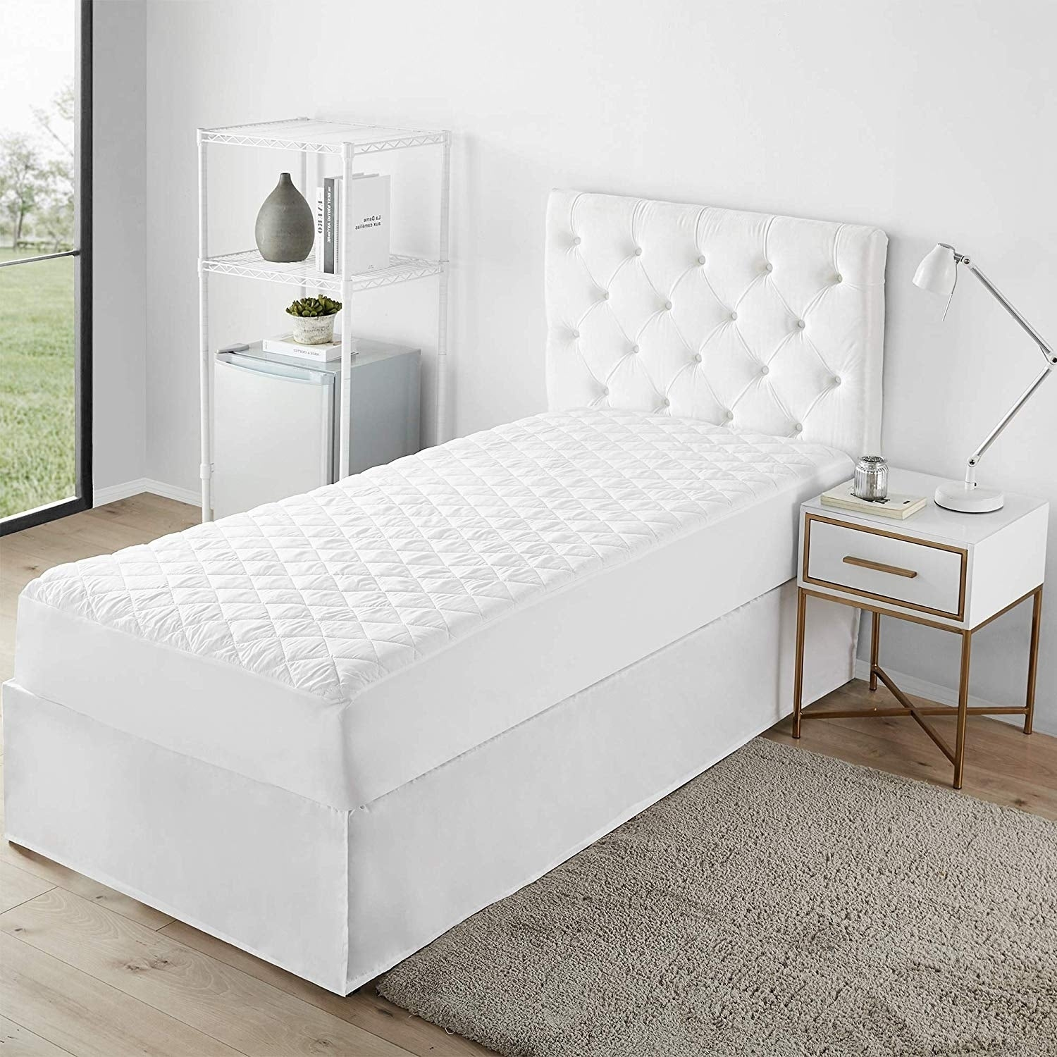 Shop The Standard   Quilted Twin XL Mattress Pad   Overstock