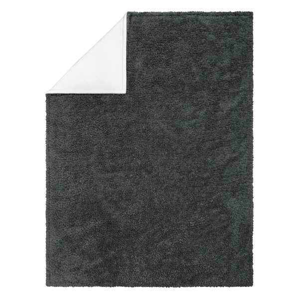Trend Lab Dove Gray Receiving Blanket-Ruffle Stripe Trimmed Receiving Blankets