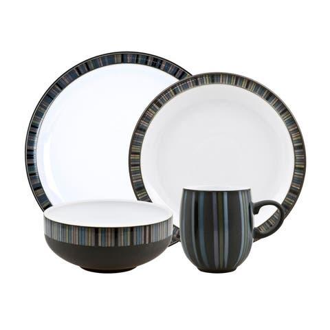 Denby Jet Stripes 16-piece Dinnerware Set