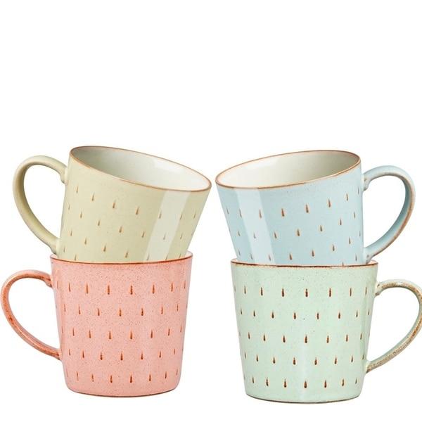 Denby Heritage Set of 4 Assorted Cascade Mugs