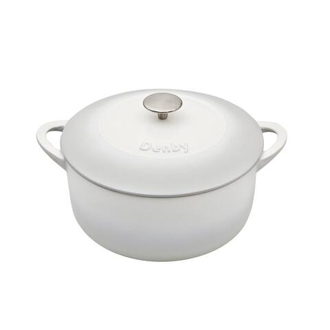 Denby Natural Canvas Cast Iron 5.2L Round Casserole Dish