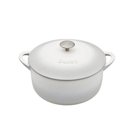 Denby Natural Canvas Cast Iron 4L Round Casserole Dish