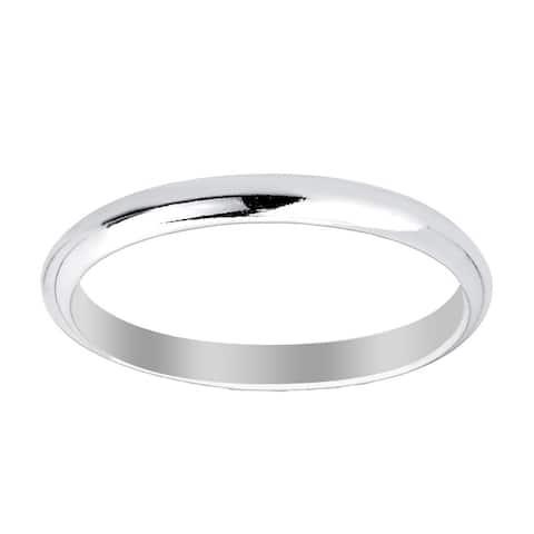 La Preciosa Sterling Silver High Polished 2mm/3mm/4mm/5mm/6mm/7mm/8mm/9mm Women and Men's Wedding Engagement Band Ring