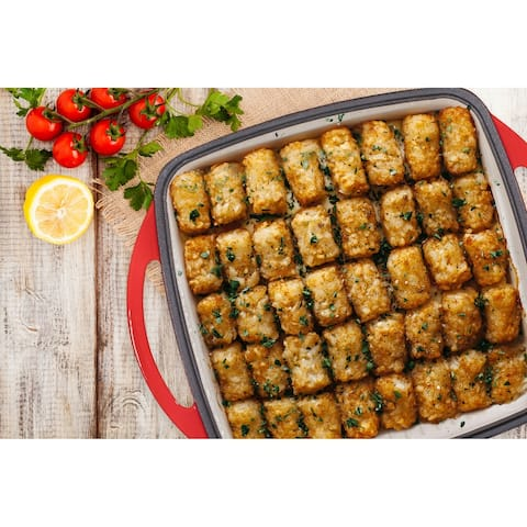 2 in 1 Enameled Cast Iron Square Casserole Baking Pan