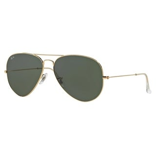 Ray-Ban Aviator Classic RB3025 Unisex Gold Frame Green Lens Sunglasses (As Is Item)