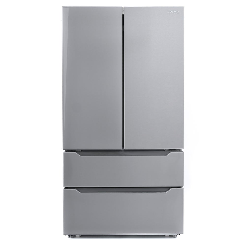 Cosmo  22.5 cu. ft. 4-Door Counter-Depth French Door Refrigerator with 2 Freezer Drawers in Stainless Steel, Automatic Ice Maker