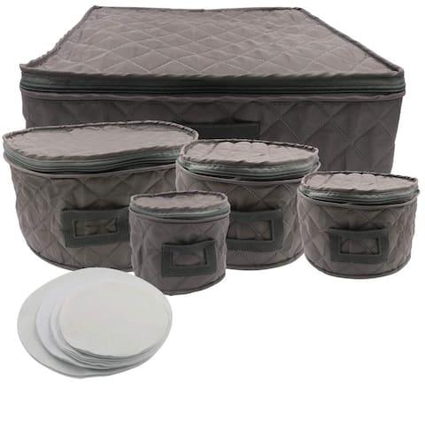 Evelots Dinnerware Storage-Protector-Travel/Transport Bag-Service For 12-Set/5