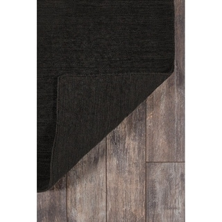 Black Hand-knotted Wool Area Rug