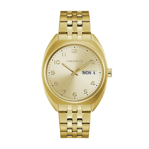 Caravelle by Bulova Mens 44C110 Modern Gold-Tone Stainless Bracelet Watch
