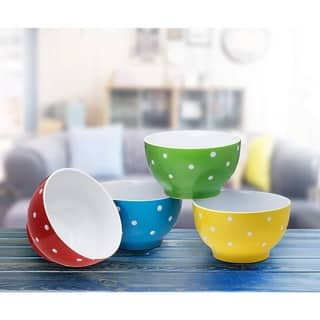 Everyday Ceramic Bowls - 20 oz. Set of 4