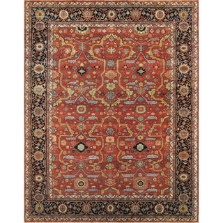 Pasargad Home Ferehan Collection Hand-Knotted Wool Area Rug