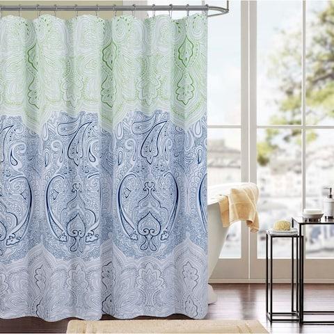 Cordova Printed Canvas 13-Piece Shower Curtain Set