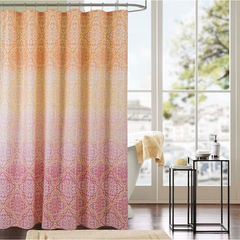 Mia Printed Canvas 13-Piece Shower Curtain Set