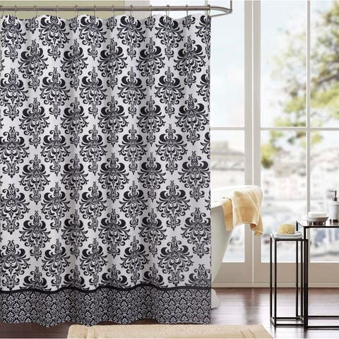 Kira Printed Canvas 13-Piece Shower Curtain Set
