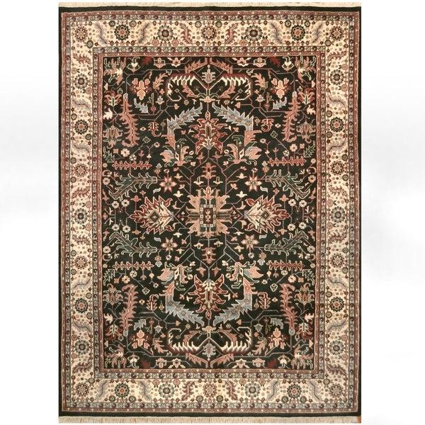 Handmade One-of-a-Kind Heriz Wool Rug (India) - 8'10 x 12'