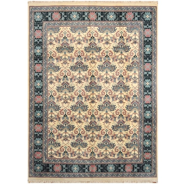 Handmade One-of-a-Kind Heriz Wool Rug (India) - 8'8 x 11'10