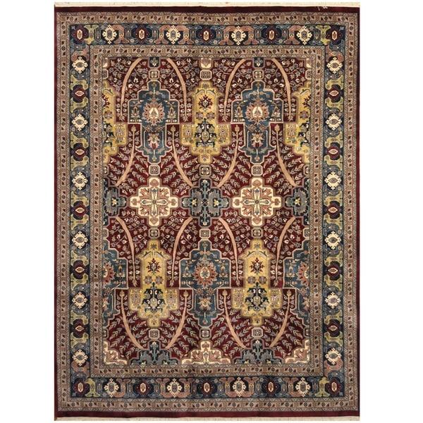 Handmade One-of-a-Kind Heriz Wool Rug (Iran) - 9' x 12'