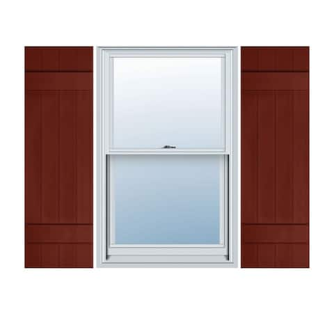 Builders Choice Vinyl Four Board Joined Window Shutters (Pair)