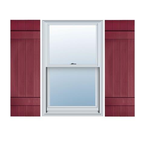 Builders Choice Vinyl Four Board Joined Window Shutters (Pair)