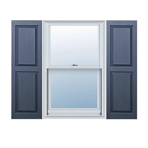 Builders Choice Vinyl Raised Panel Window Shutters (Pair)