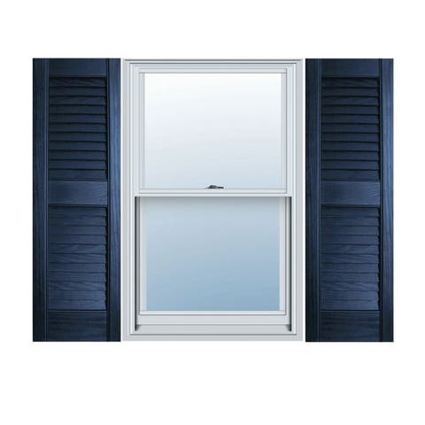 Builders Choice Vinyl Open Louver Window Shutters (Pair)