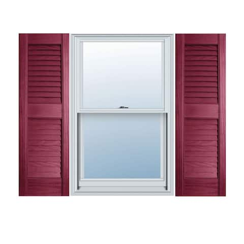 Builders Choice Vinyl Open Louver Window Shutters (Pair)
