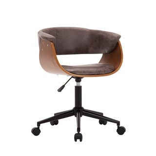 Porthos Home Idan Adjustable Swivel Office Chair, Suede Upholstery