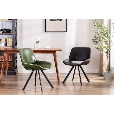 Carson Carrington Inseros PU Leather Dining Chair Set (Set of 2)