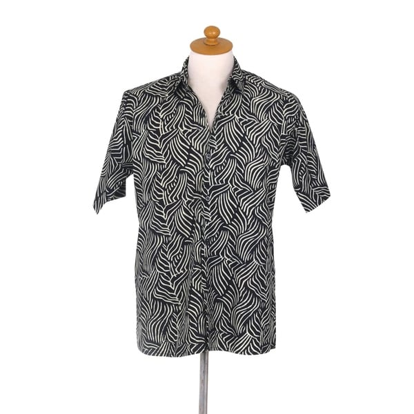 Handmade Bedeg Mens Cotton Batik Shirt (Indonesia)