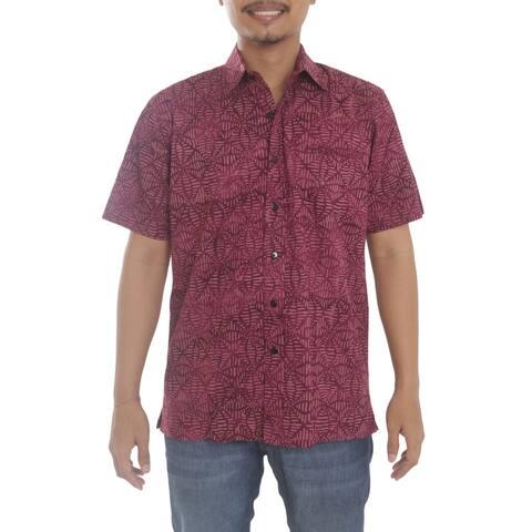 Handmade Indonesian Intricacy Mens Batik Cotton Shirt (Indonesia)