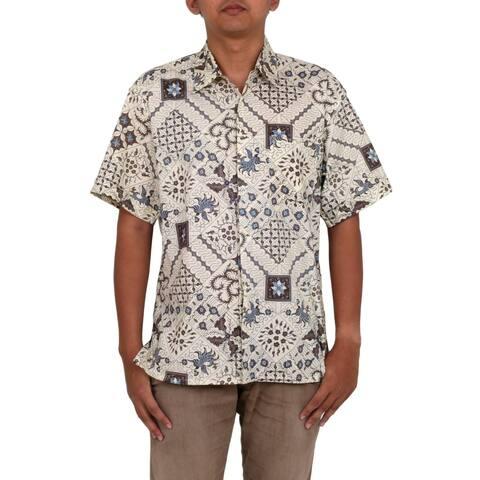 Handmade Javanese Batik Cotton Shirt (Indonesia)