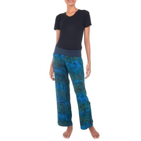 Handmade Kenanga Rayon Batik Pants (Indonesia)