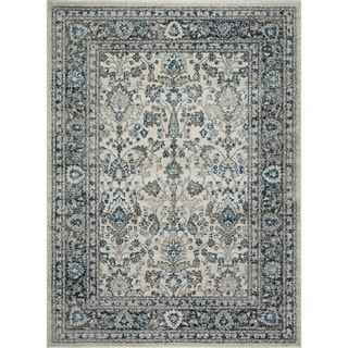 Mod-Arte Jewel Collection Medallion & Distressed Soft Plush area rug