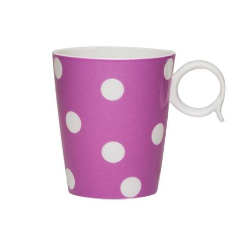 Red Vanilla Freshness Dots Violet Mug Set / 4