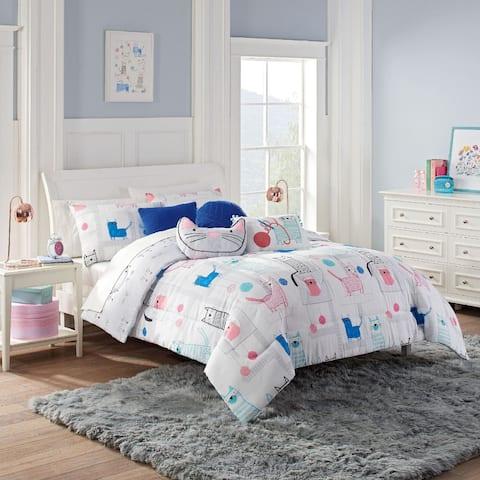 Waverly Spree Kitty City Reversible Comforter Set