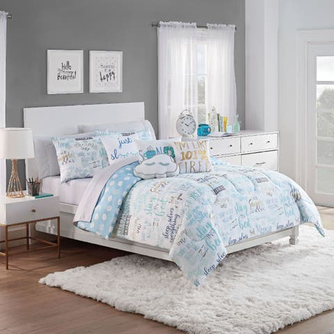 Waverly Spree Lights Out Reversible Comforter Set