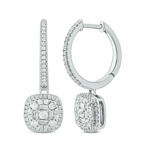 1/2 cttw Fashion Earring in 10KT White Gold.