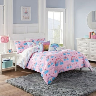 Link to Waverly Spree Over The Rainbow Reversible Comforter Set Similar Items in Kids Bed-in-a-Bag