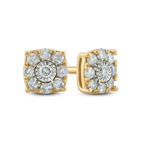 Cali Trove, 1/4 cttw Studd Earring in 10KT Yellow Gold.