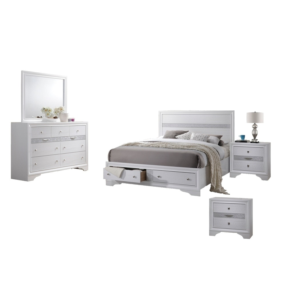 Shop Best Quality Furniture Catherine 5 Piece Bedroom Set On