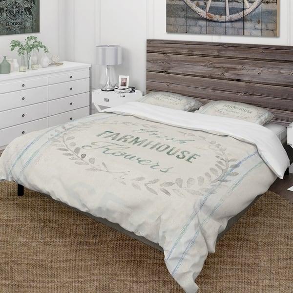 Designart Farmhouse Florals Viii Farmhouse Bedding Set Duvet Cover Shams King Size As Is Item Overstock 28442112