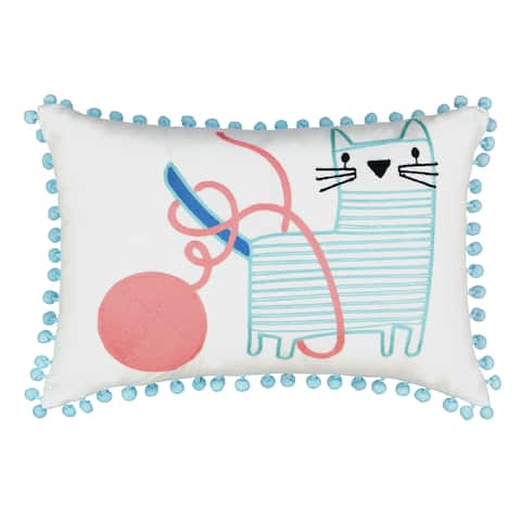 Waverly Spree Kitty City Embroidered Decorative Pillow